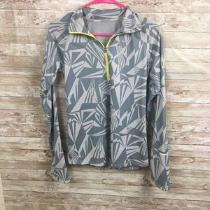 Nike Small Dry-Fit Gray Pattern Pullover